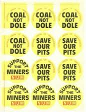 coal not dole stickers